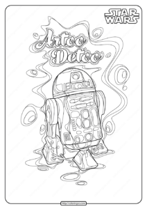 Printable Star Wars R2 D2 Coloring Pages