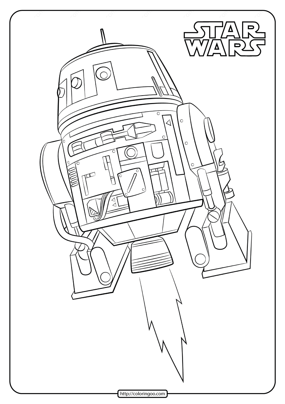 Printable Star Wars R2D2 Coloring Pages