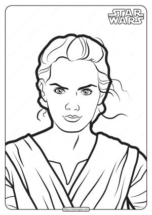Printable Star Wars Rey Skywalker Coloring Pages