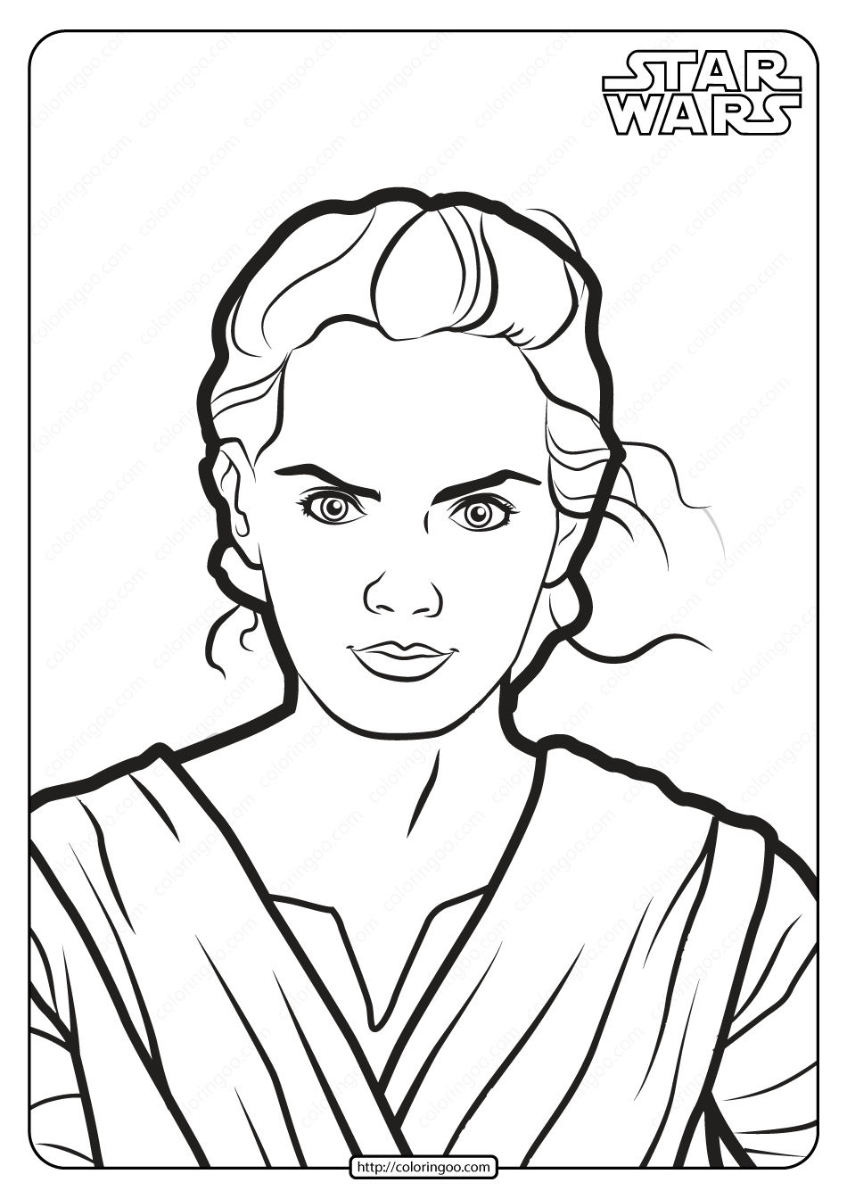 Printable Star Wars Rey Skywalker Coloring Pages