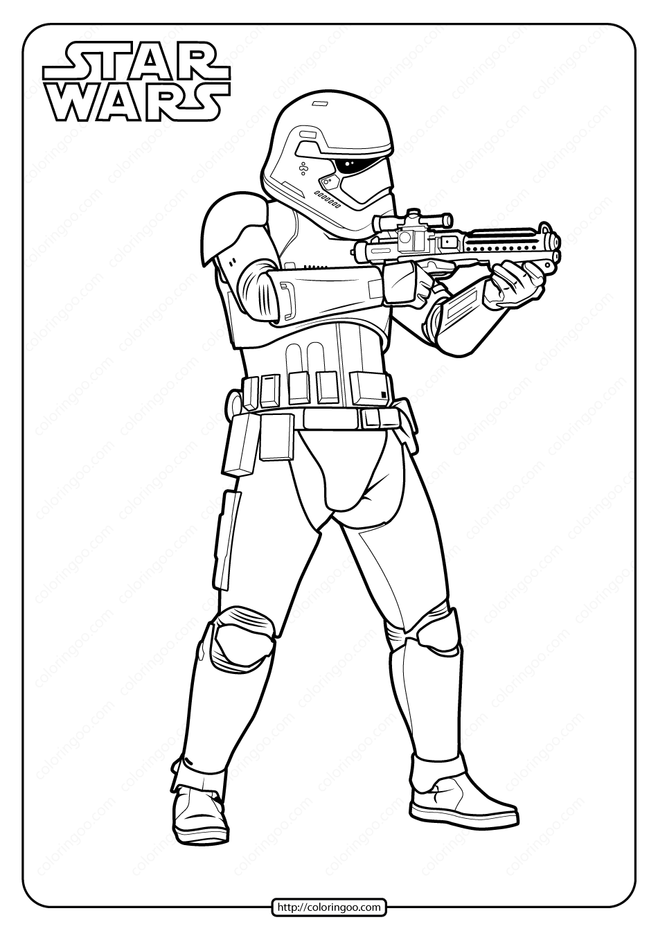 Printable Star Wars Stormtrooper Coloring Page