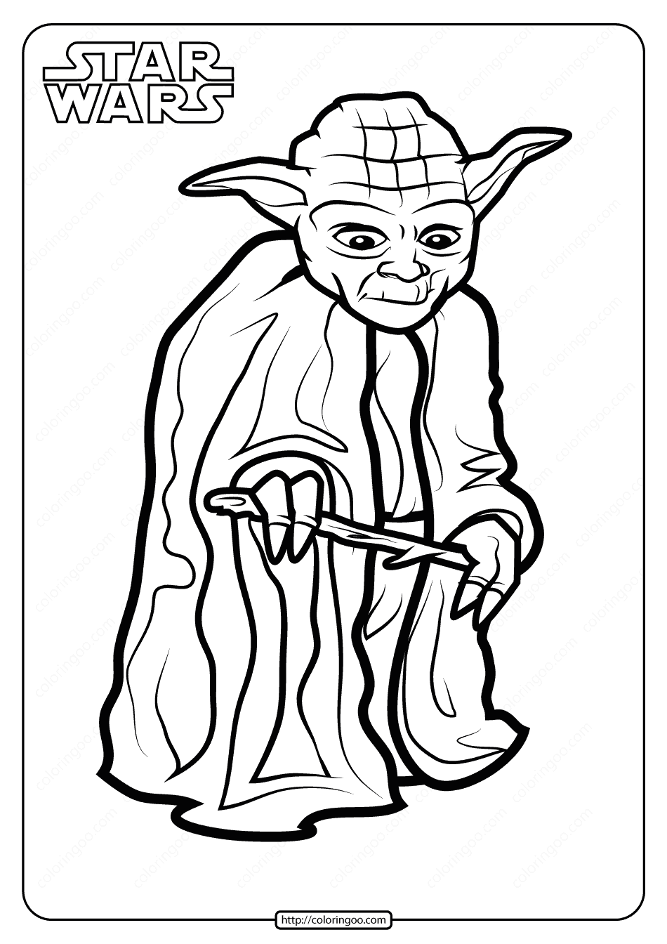 Printable Star Wars Yoda Coloring Pages Book