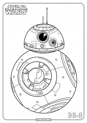 Printable Star Wars BB8 Coloring Pages