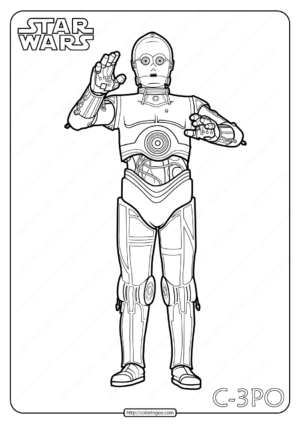 Star Wars C-3PO Printable Coloring Pages