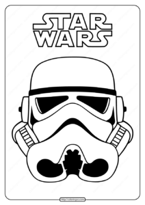 Star Wars Clone Trooper Mask Coloring Pages