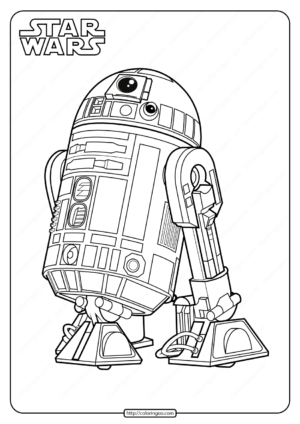 Star Wars R2-D2 Printable Coloring Pages Book
