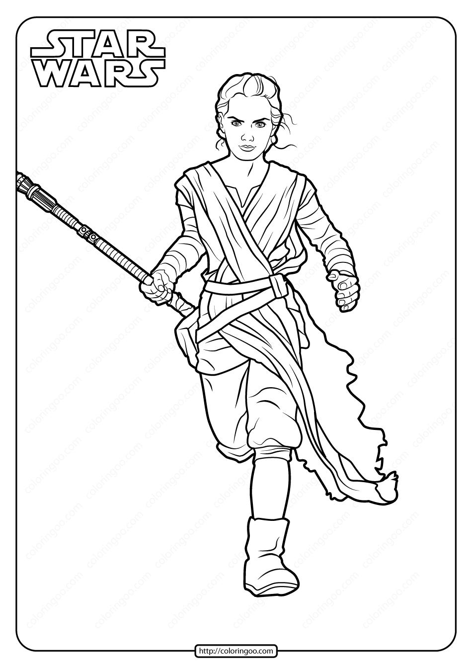 Star Wars Rey Printable Coloring Pages Book