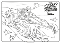 The Roadster Racers Donald Duck Coloring Page