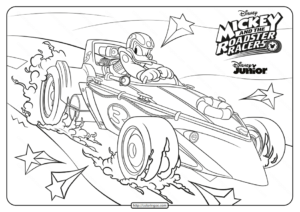 Mickey and The Roadster Racers Donald Coloring Page