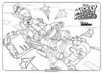 The Roadster Racers Goofy Goof Coloring Page