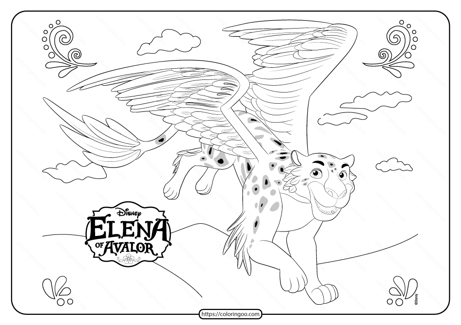 Princess Elena of Avalor Jaquin Skylar Coloring Page