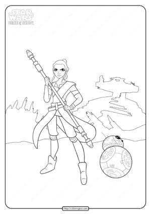 Star Wars Forces of Destiny Coloring Page