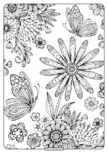 Printable Coloring Book Pages for Adults 001