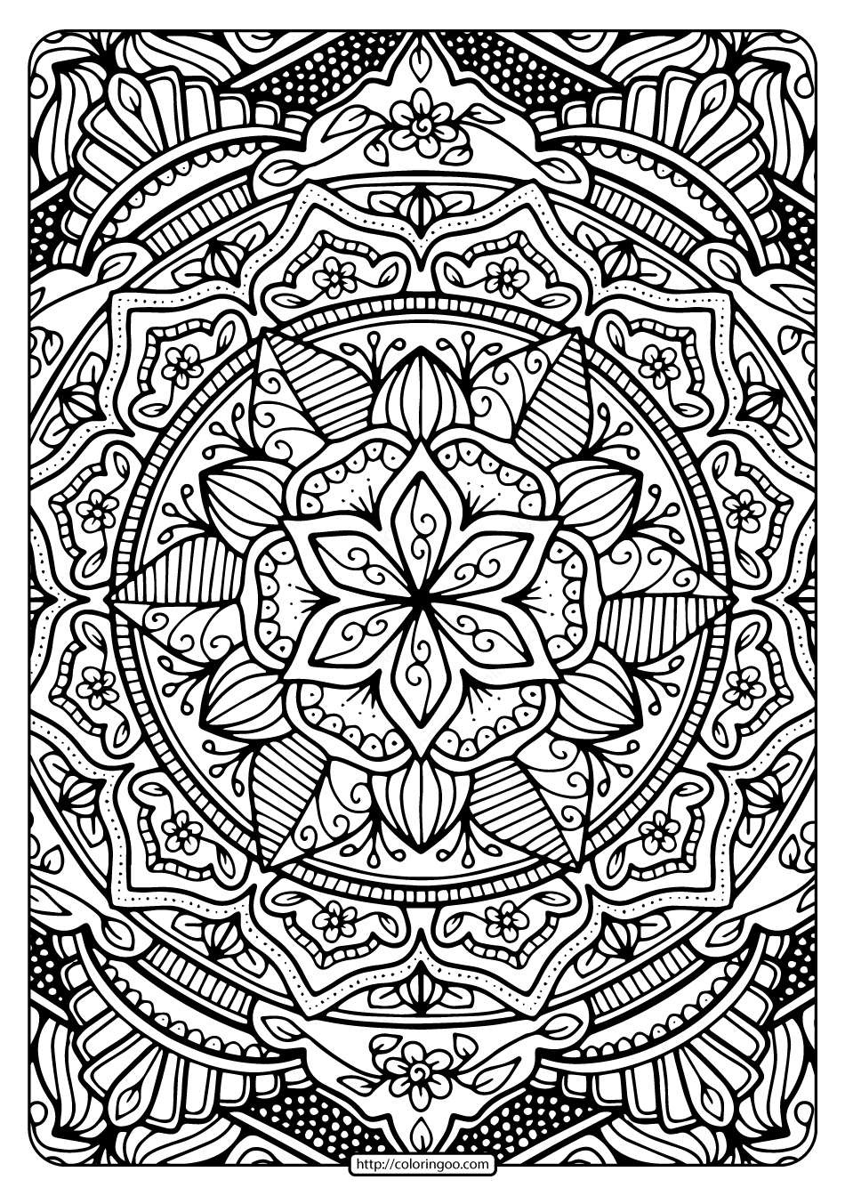 Printable Coloring Book Pages for Adults 003