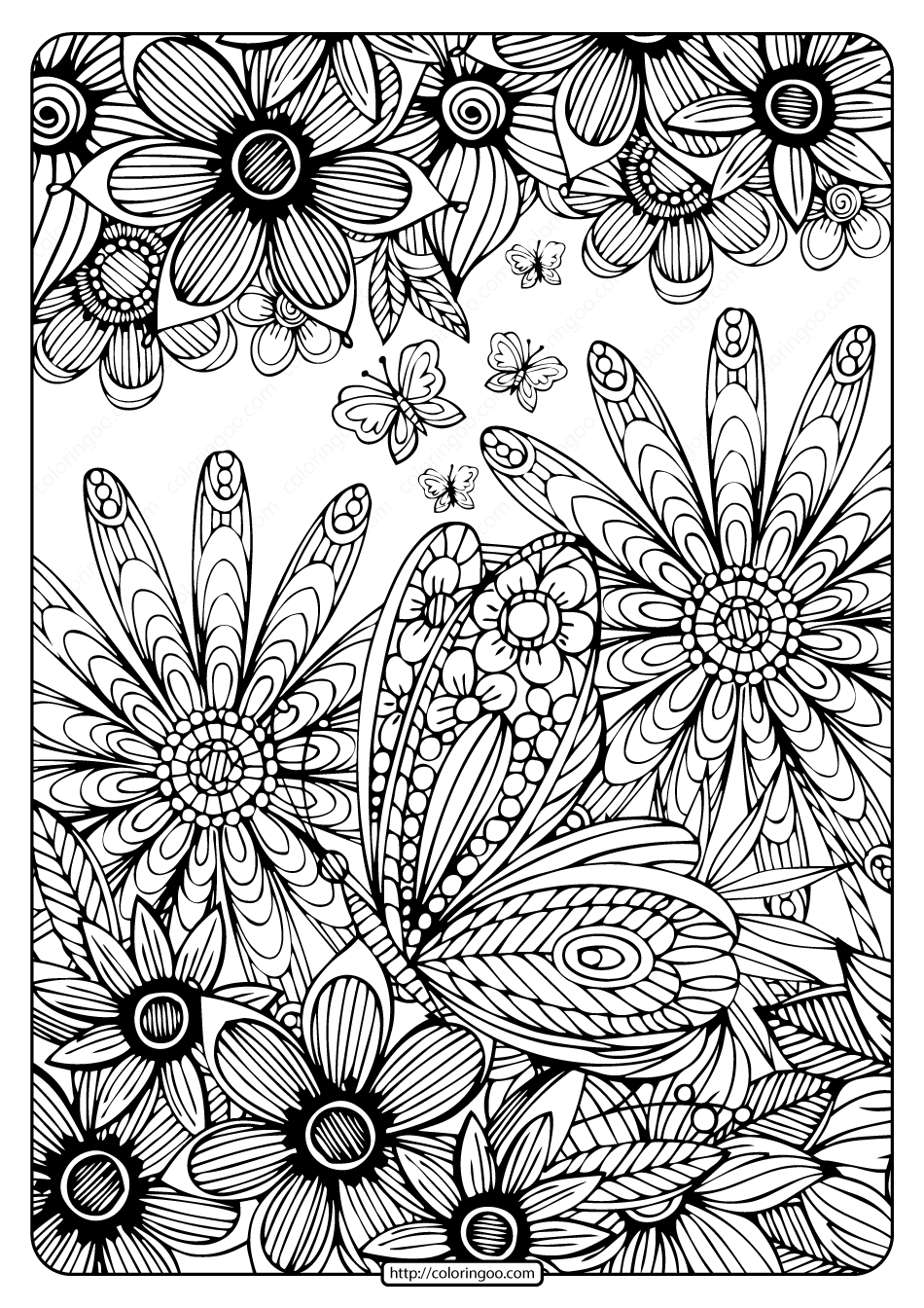 Printable Coloring Book Pages for Adults 004