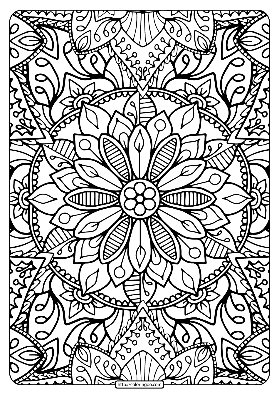 Printable Coloring Book Pages for Adults 006
