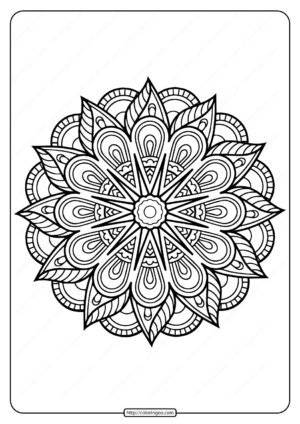 Printable Coloring Book Pages for Adults 007