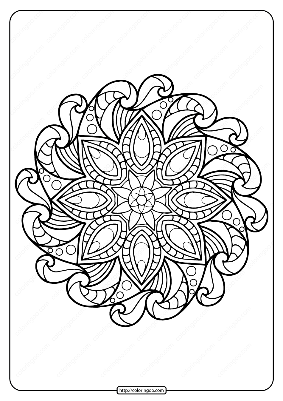 Printable Coloring Book Pages for Adults 008