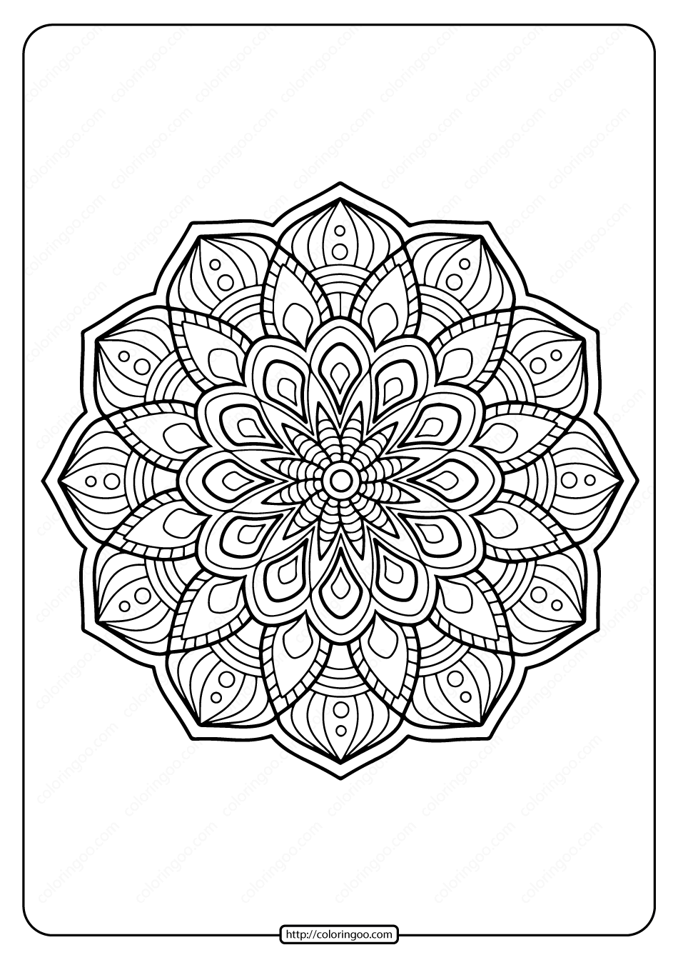 Printable Coloring Book Pages for Adults 009