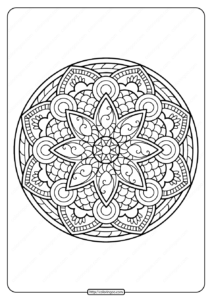 Printable PDF Coloring Book Pages for Adults 010