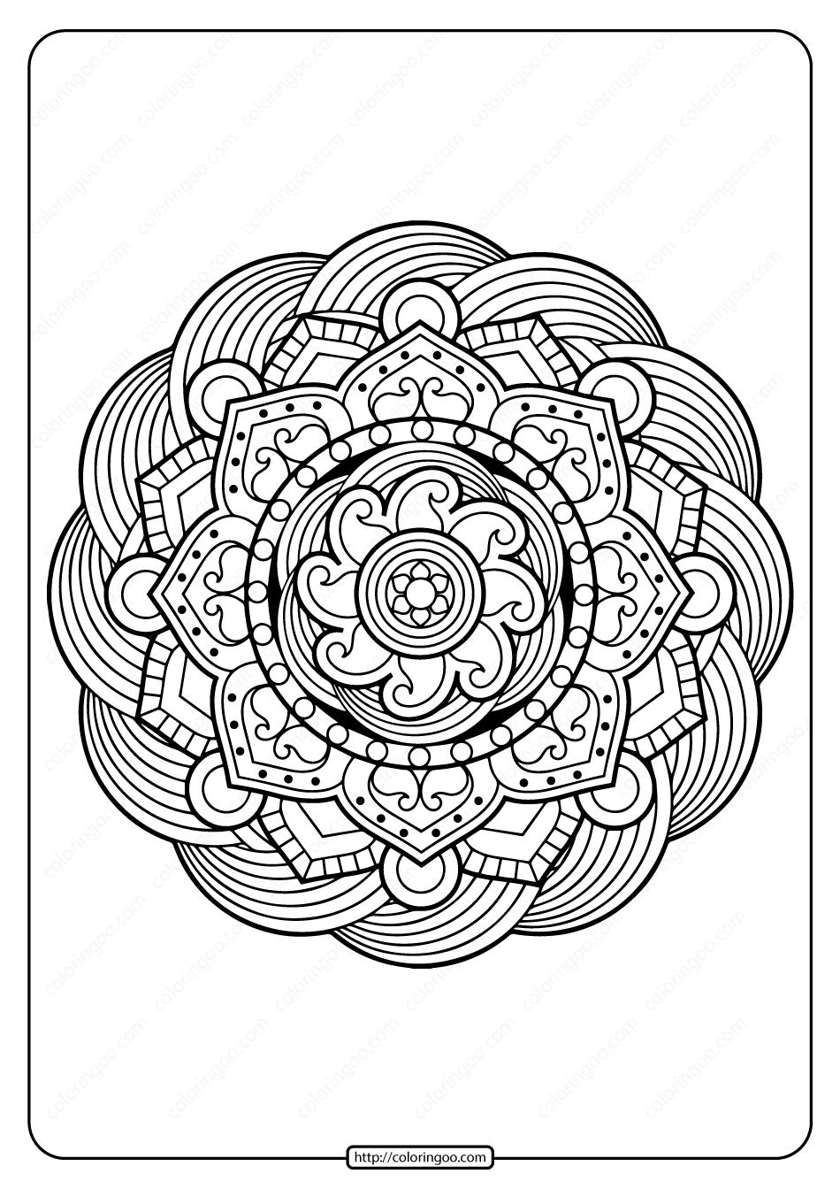 Printable PDF Coloring Book Pages for Adults 011