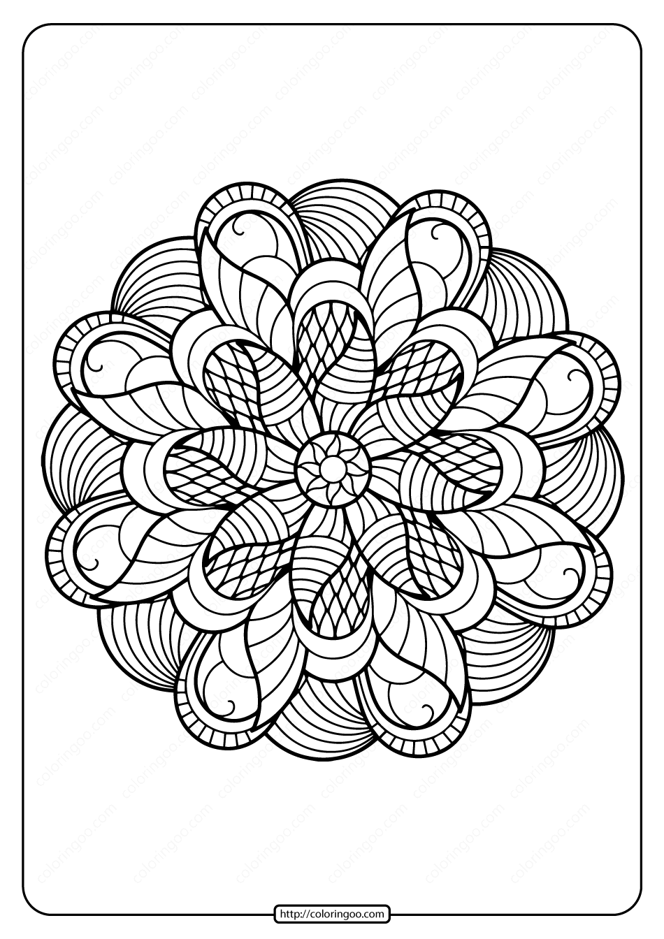 Printable PDF Coloring Book Pages for Adults 012