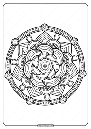 Printable PDF Coloring Book Pages for Adults 013