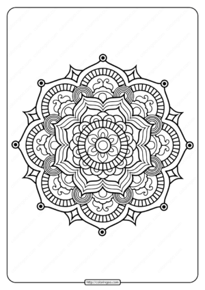 Printable PDF Coloring Book Pages for Adults 014