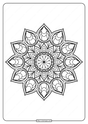Printable PDF Coloring Book Pages for Adults 015
