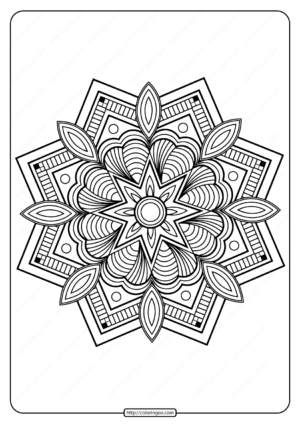 Printable PDF Coloring Book Pages for Adults 016