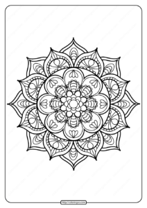 Printable PDF Coloring Book Pages for Adults 017
