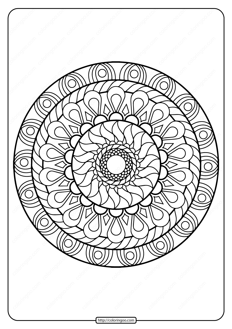 Printable PDF Coloring Book Pages for Adults 018