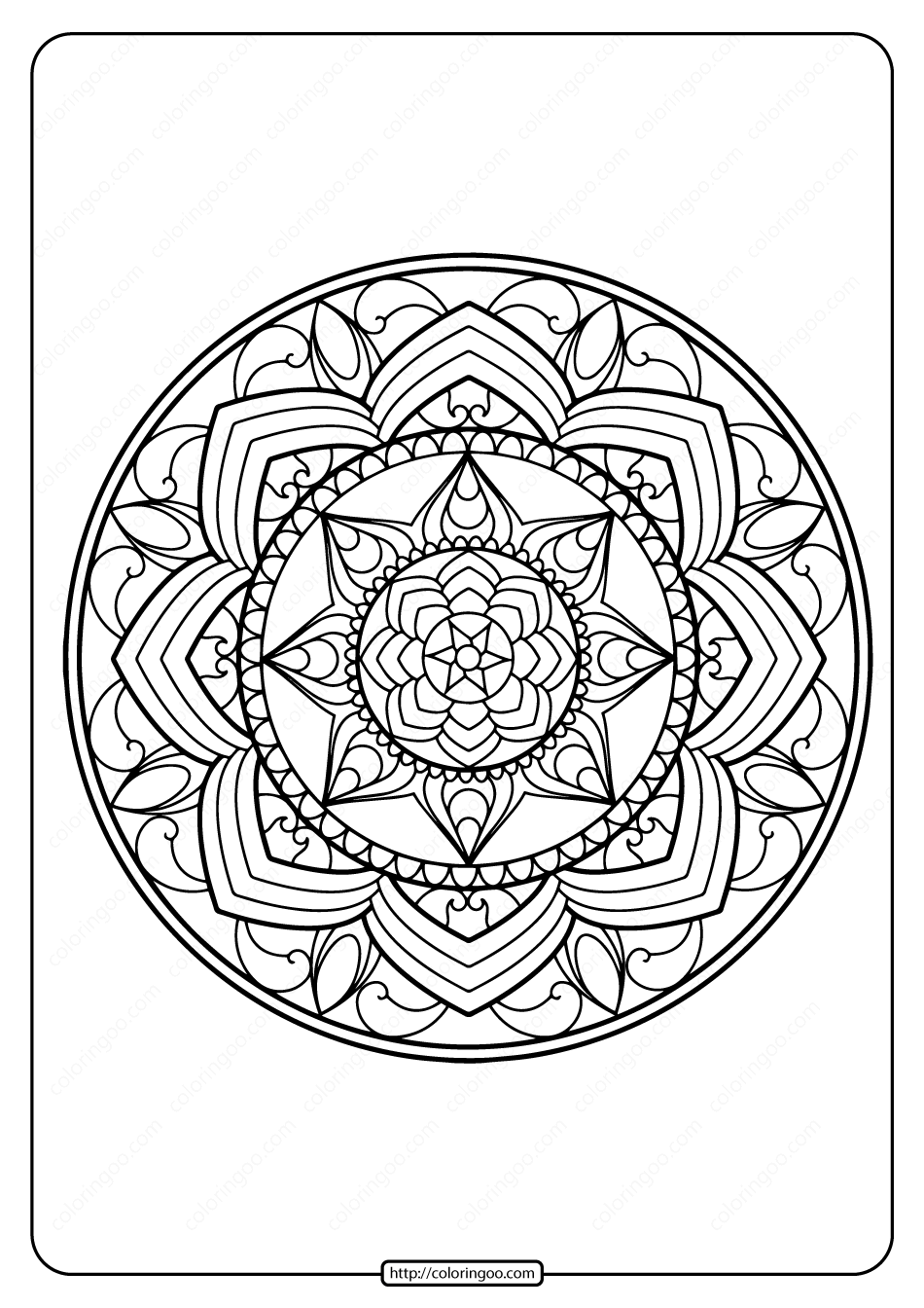 Printable PDF Coloring Book Pages for Adults 019