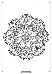 Printable PDF Coloring Book Pages for Adults 020