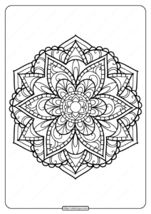 Printable PDF Coloring Book Pages for Adults 021
