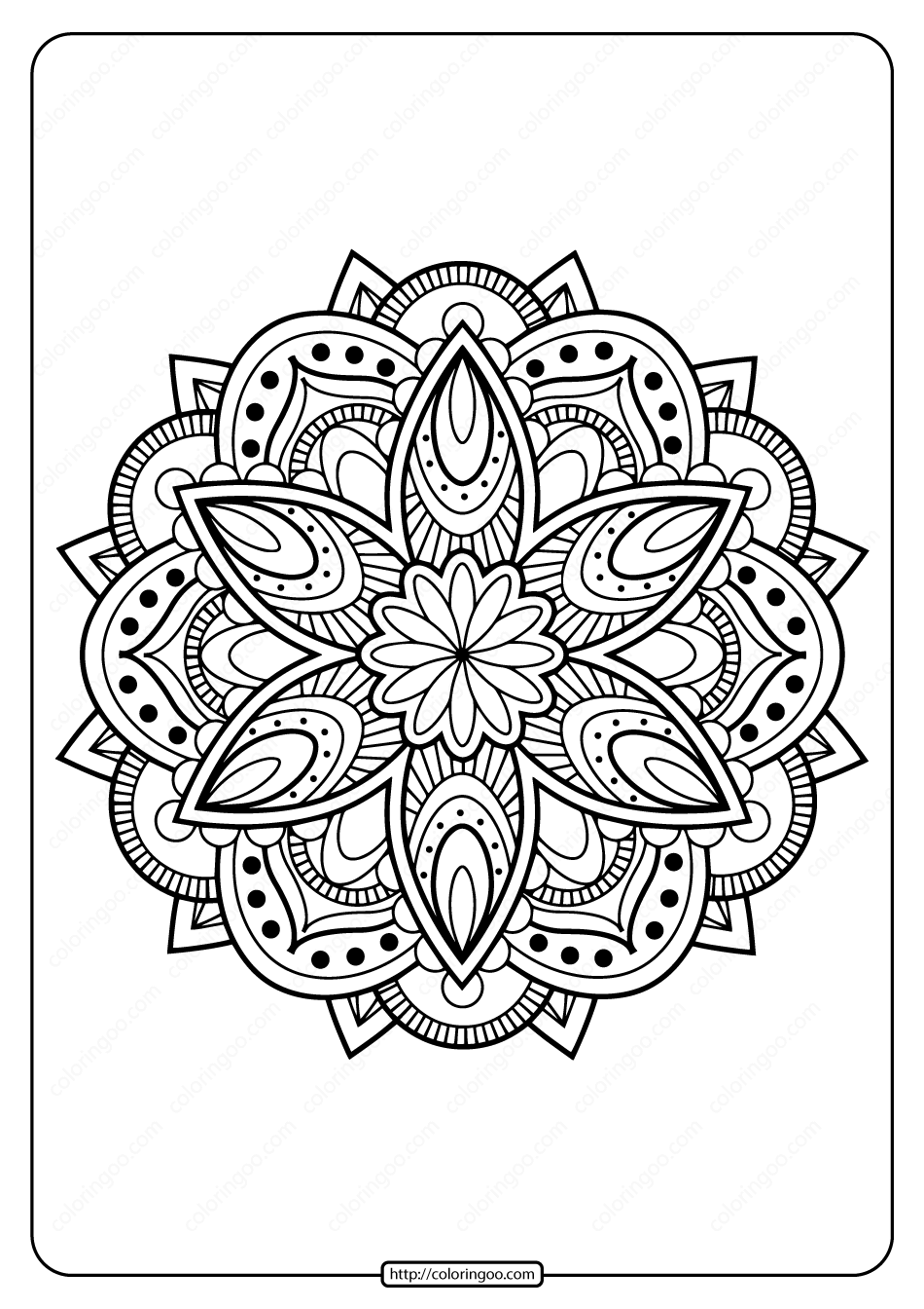 Printable PDF Coloring Book Pages for Adults 022