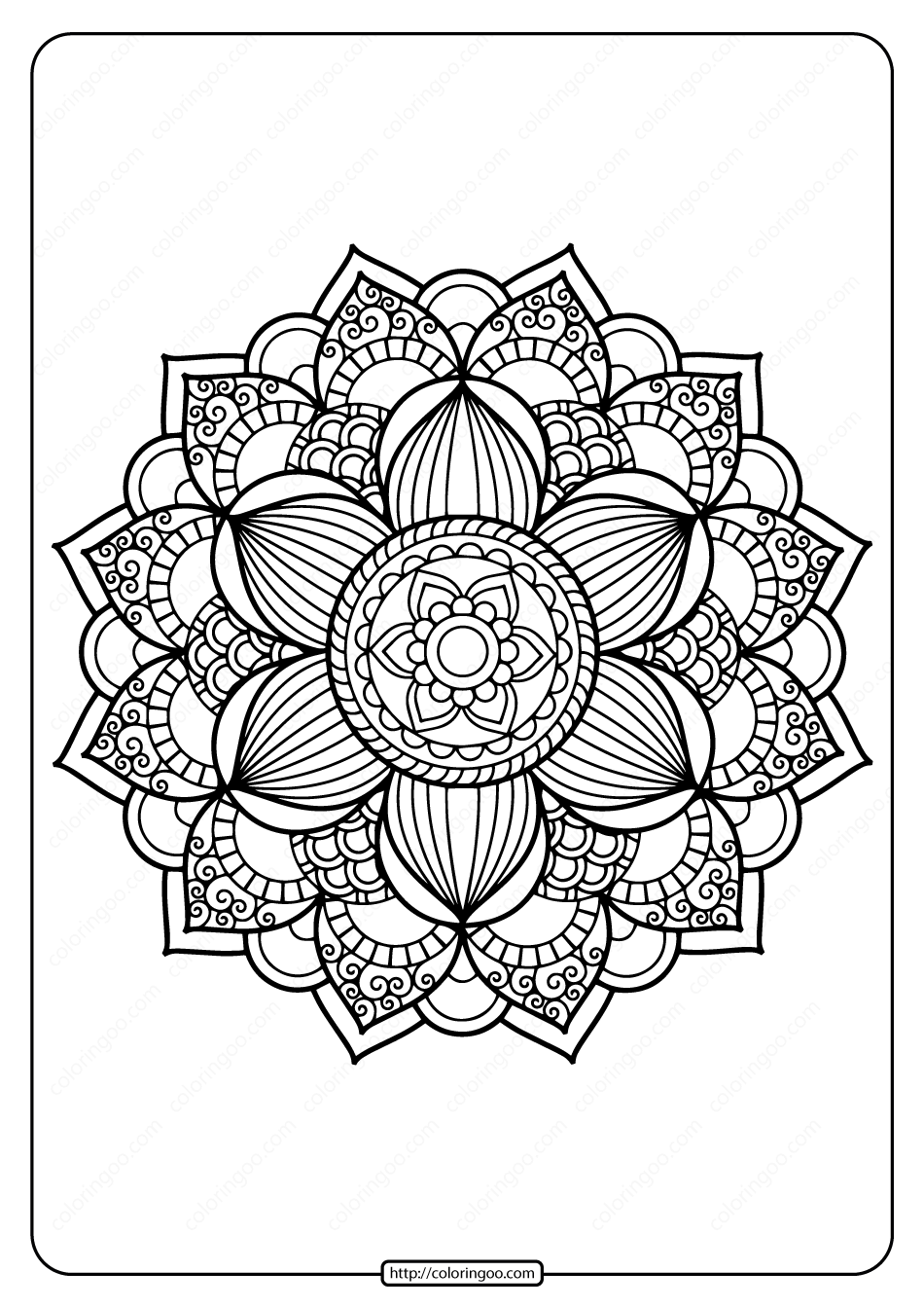 Printable PDF Coloring Book Pages for Adults 023