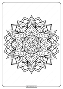 Printable PDF Coloring Book Pages for Adults 024