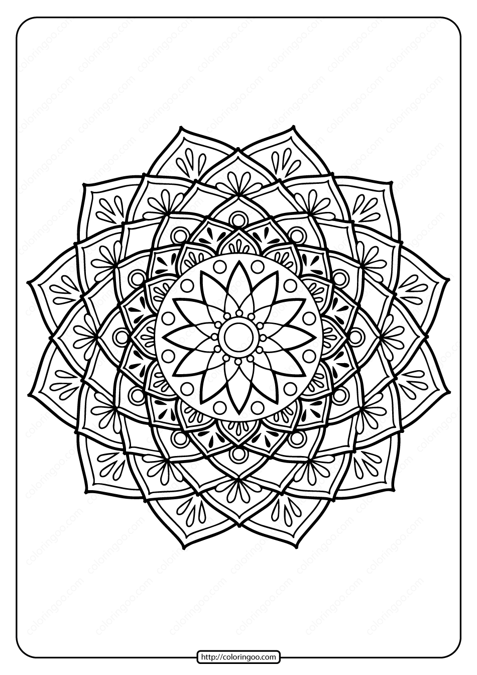 Printable PDF Coloring Book Pages for Adults 025