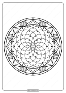 Printable PDF Coloring Book Pages for Adults 026