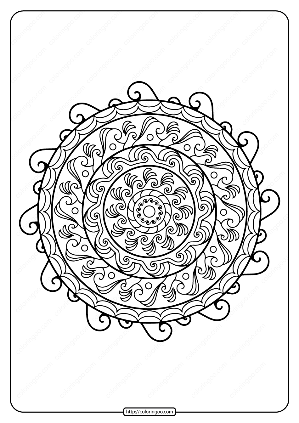 Printable PDF Coloring Book Pages for Adults 027