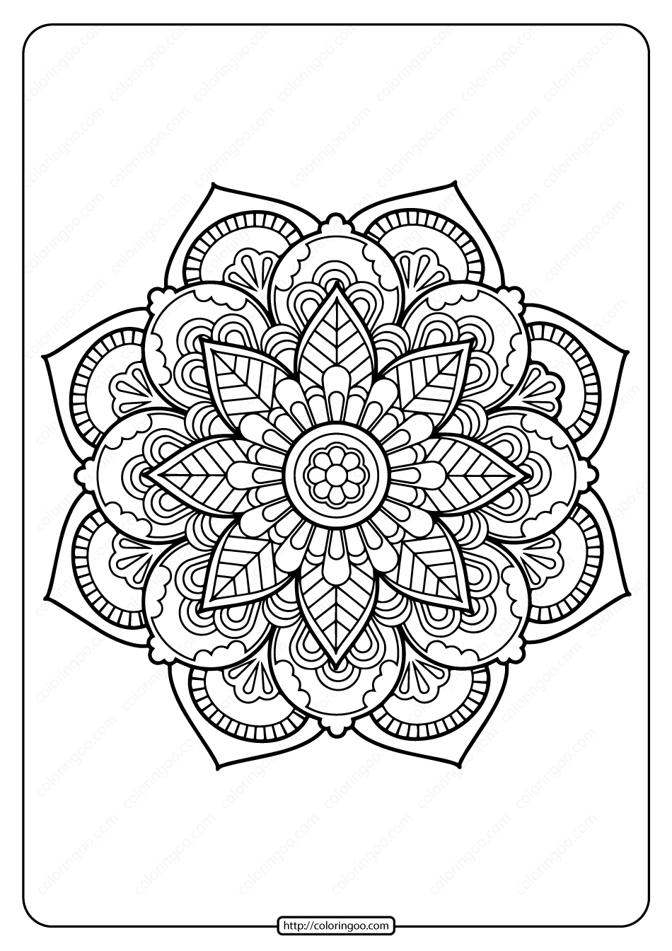 Printable PDF Coloring Book Pages for Adults 028