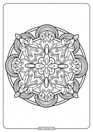 Printable PDF Coloring Book Pages for Adults 029