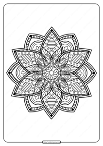 Printable PDF Coloring Book Pages for Adults 030