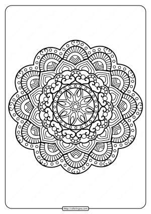 Printable Floral Mandala PDF Coloring Pages 32