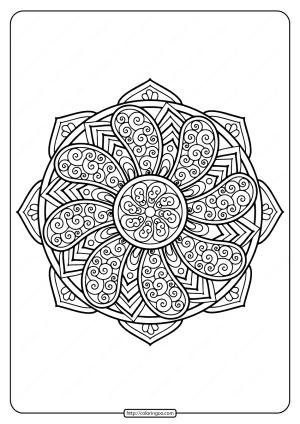 Printable Floral Mandala PDF Coloring Pages 33