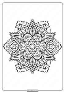 Printable Floral Mandala PDF Coloring Pages 34