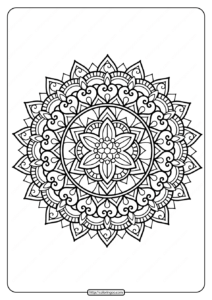 Printable Floral Mandala PDF Coloring Pages 35