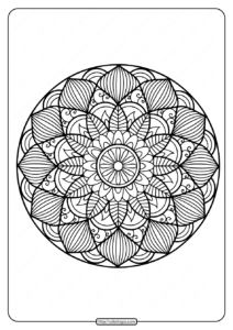 Printable Floral Mandala PDF Coloring Pages 36
