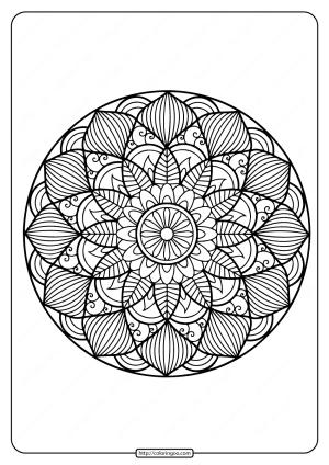 Printable Floral Mandala PDF Coloring Pages 36